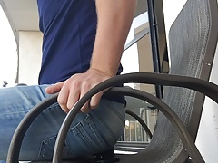 Morning Plug Stretch and Gape on the balcony