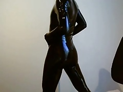 Latex catsuit - feeling good