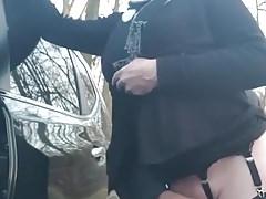 cumming by stranger