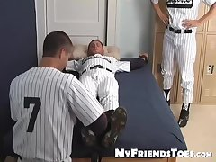 Davis gets humiliated by tickling his body and feet
