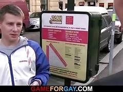 Gay dude seduces cute hetero taxi driver