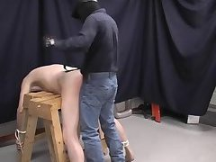 Nude Guy Gets Spanked