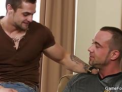 Homosexual blowjob and gay sex