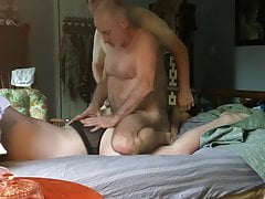 Daddies enjoying twink in orgy