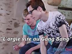 Orgy turns to Gang Bang