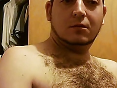 sexy hairy guy cumming