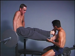 Gay man with foot fetish getting fucked