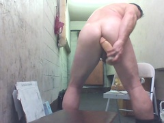 Joey D stretching his butt with ANAL TOYS moaning squirt