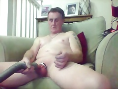 sissy kens fun with his vacuum cleaner