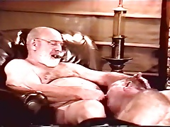Older man sucking a grandfather
