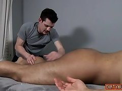 Muscle gay oral sex with massage