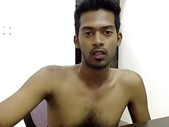 Hot indian man naked in room intermittently showing his dick