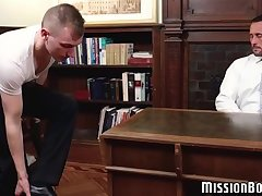 Handsome young Mormon raw fucked hard by stud pastor