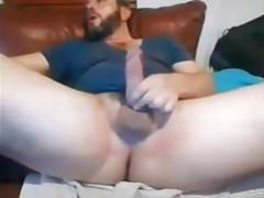 Moaner Str8 Daddy with Big Cock, Nuts & Ass cums #125