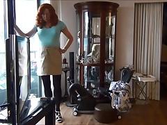 Naughty Gigi shows off her new skirt