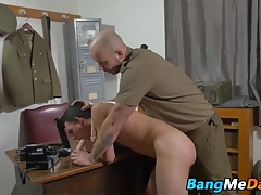 Soldier getting anally punished hard