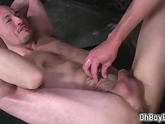 Finger fuck and rimming that hairy ass before pounding it