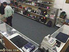 Amateur sucks on spycam