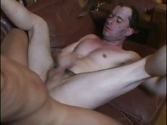 Homosexual men bound and ass rammed