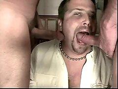 Steamy cum swallowing