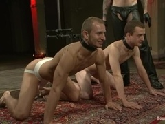 Christian Wilde teaches two gay bitches a good lesson