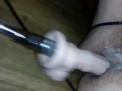 Sissy using sex machine for first time