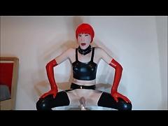 Nicole latex dildo suck and fuck
