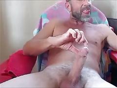 bearded mature man huge load
