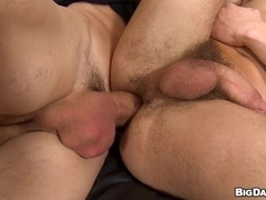 Bruce sucks Caleb Moreton's fat cock and welcomes it in his gay ass