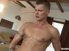 Mark Brown gets his homosexual asshole fingered and fucked
