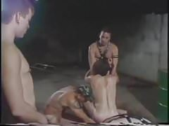 Gay pissing orgy in old building