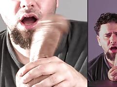 Handjob Facial and Post Cum Torture