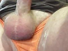 cumin in orange panties