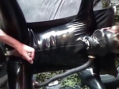 Latex Fuck On The Sling