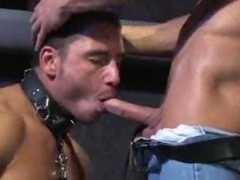 Totally hardcore Dilf Teaches His Slave To Blowjobs