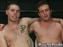 Bound gagged and extreme torture gay bondage