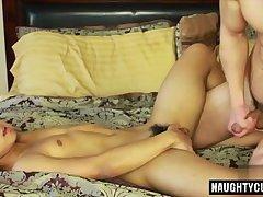 Asian gay anal and cumshot