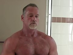 Sexy Muscle Daddy Mikey Shower Jerk Off & Cum