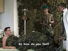 Stud Admiring Fisting Military Style