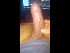 Big cock foreskin play