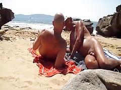 nat interupts a beach conversation