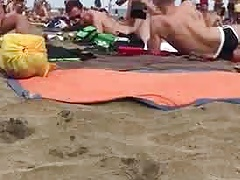 Fuck in public on a beach