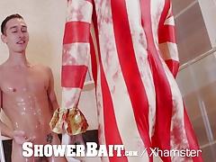 ShowerBait - CREEPY Clown Makes Porn Debut on Halloween