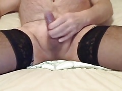 Small cock cum in condom and female condom