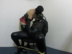 Gas mask playing crossdressers