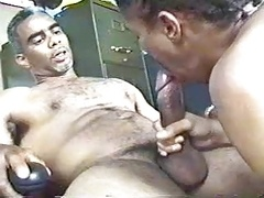 mature BLACK grey muscled grandDAD sucked, Get down and dirty young and fresh SONboy