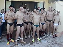 Italian football players in underwear
