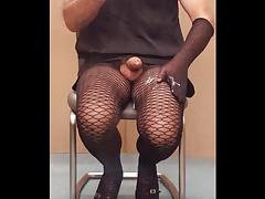 Cum on my tights
