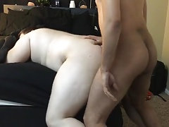 White Fat Boy getting all the chaser dick he can take