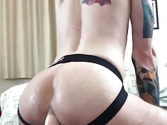 Fuck with that huge dildo slut 1
